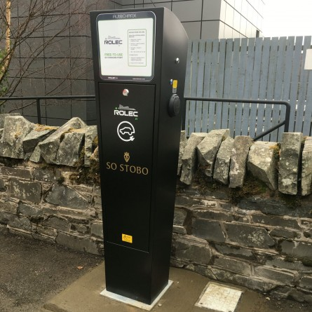 Electric Vehicle Charging Station outside Stobo Castle